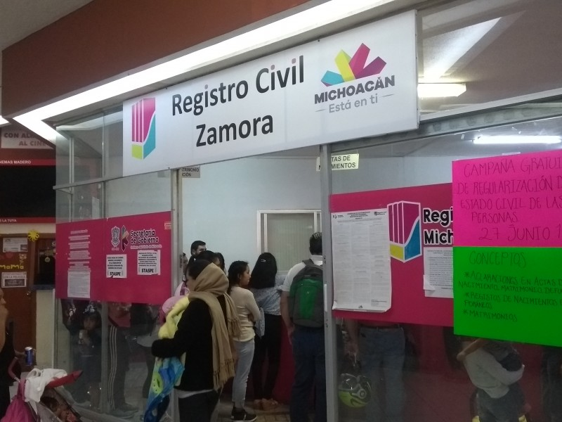 Anuncian campaña regional de regularización del estado civil.