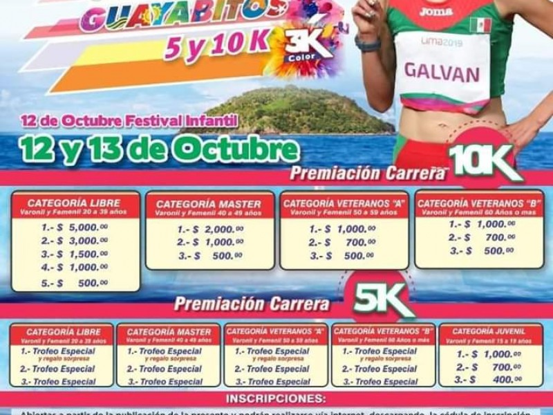 Anuncian carrera atlética Guayabitos 2019