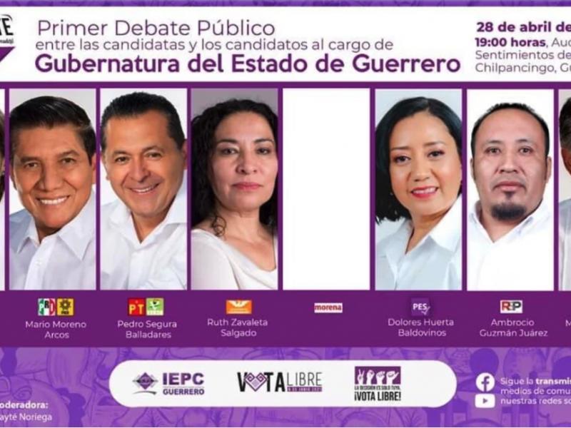 Anuncian debate entre candidatos de Guerrero, sin Félix Salgado