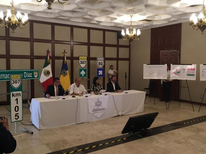 Anuncian inversión millonaria para rehabilitar carreteras de Jalisco