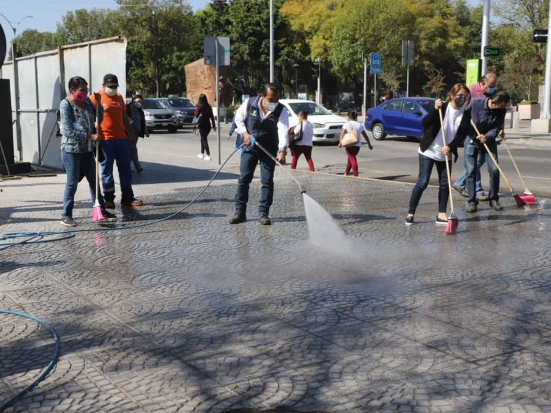 Anuncian nueva jornada de limpieza en el centro de Querétaro