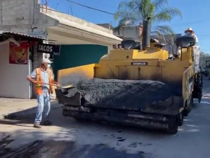 Anuncian Obras Públicas de Tepic reencarpetamiento de calle Guadalajara