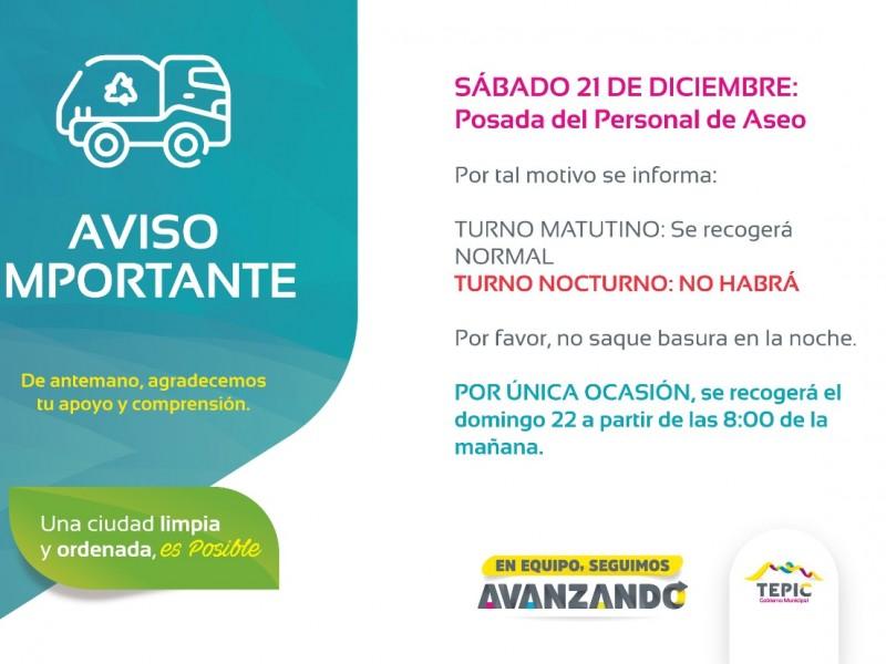 Anuncian suspensión de recolección de basura en Tepic