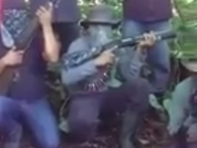 Aparece nuevo grupo de autodefensa en Simojovel, Chiapas.