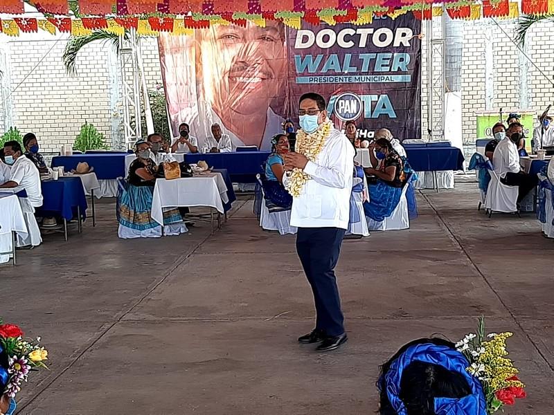 Apertura campaña de forma presencial Walter García en Tehuantepec