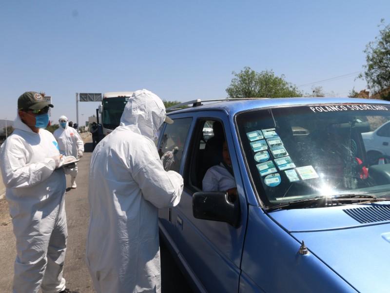 Aplican filtros sanitarios en ingresos carreteros de Guadalajara y Jalisco