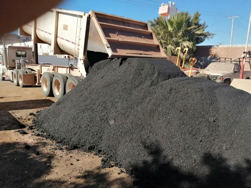 Aplicará Ayuntamiento de Guaymas 24 mil metros cuadrados de asfalto