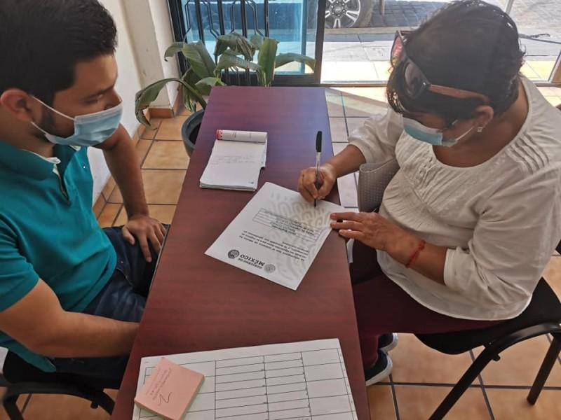 Apoya SEDESO con registro de adultos mayores para vacunación