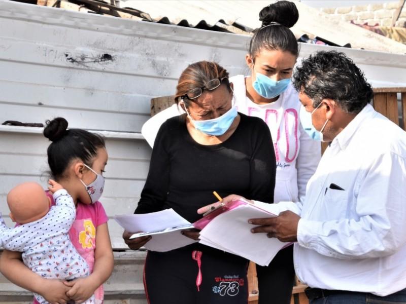 Apoyan a familia que perdió su hogar en incendio