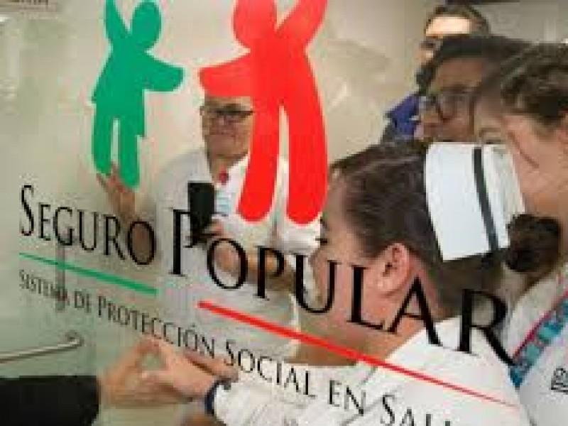 Apoyan la desaparición del seguro popular