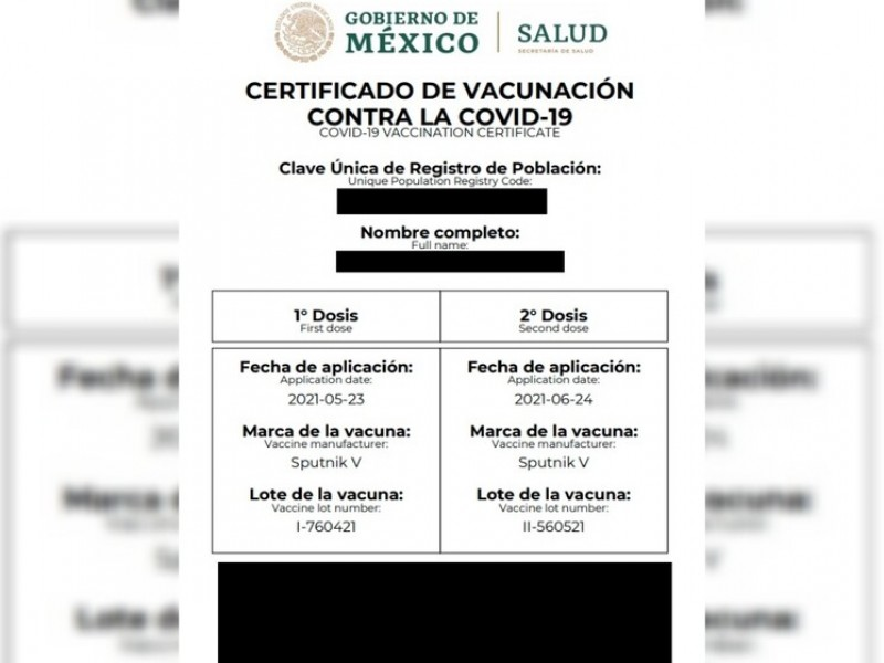 Apoyan uso de certificado de vacunación como requisito de ingreso