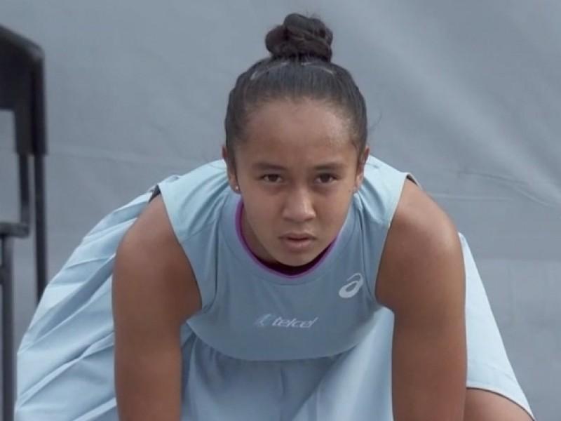 Apretada clasificación de Leylah Fernandez en Zapopan