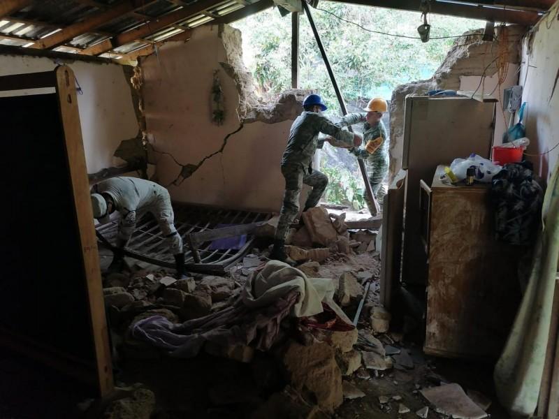 Aprueban declaratoria de desastre en 16 municipios afectados por sismo