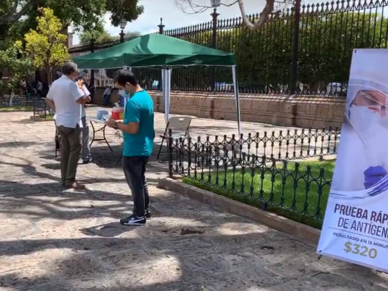 Arquidiócesis de Morelia instala módulo de pruebas rápidas en Catedral