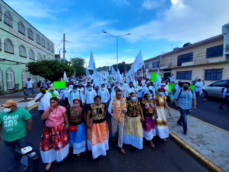 Inicia campaña Jorge Arroyo a la presidencia de Salina Cruz