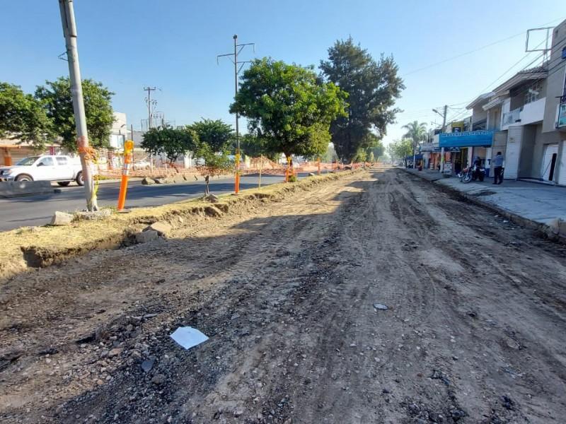 Arranca modernización vial en laterales de Mariano Otero