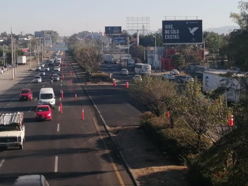 Arranca repavimentación de carretera a Chapala con caos vial