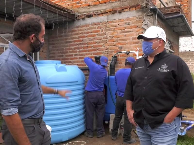 Arrancan captación de agua de lluvia en la Mesa Colorada