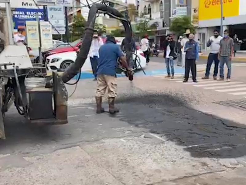 Arrancan primera etapa de bacheo de calles de Sahuayo