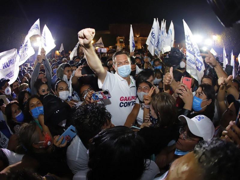 Arrasa PAN en Querétaro, Kuri es virtual ganador