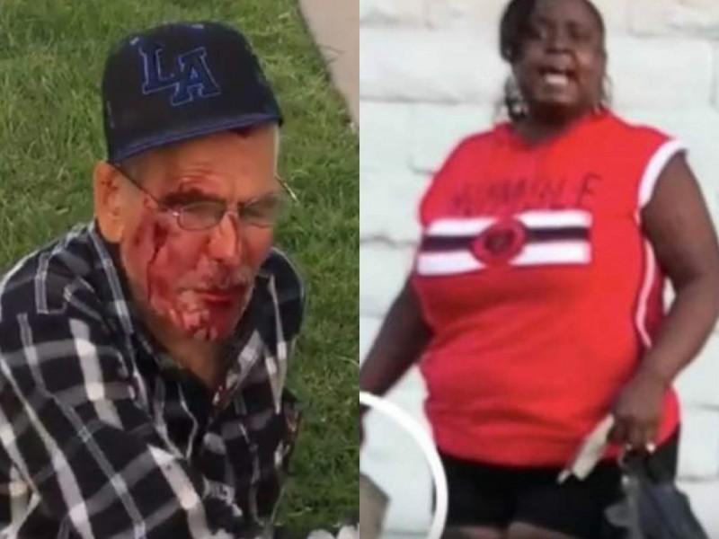 Arrestan a mujer por atacar a anciano