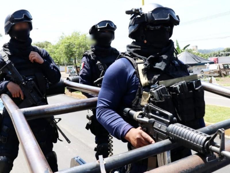 Arriban refuerzos de la Policía Michoacán a Uruapan