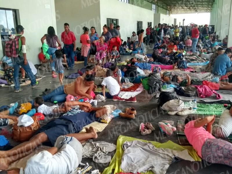 Arribo masivo de Migrantes en Juchitán