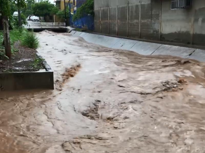 Arroyo El Piojo arrastra basura con las lluvias