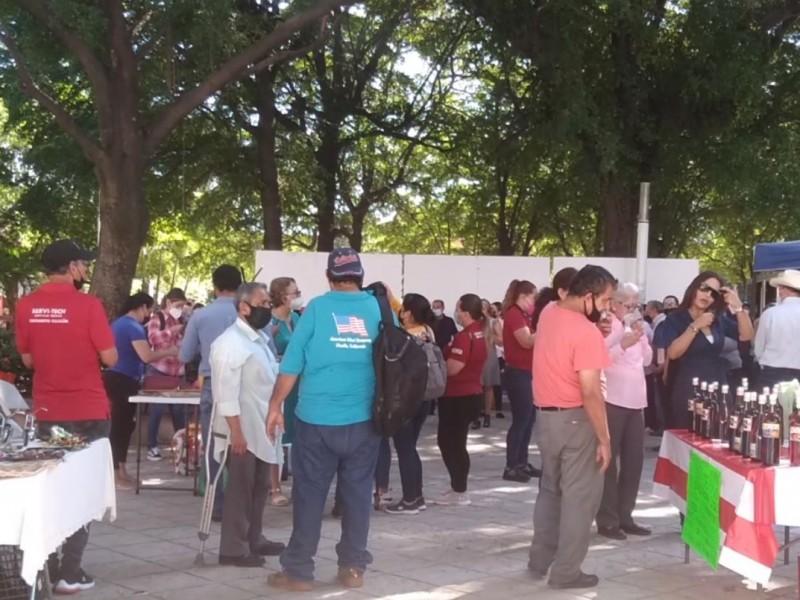 Artesanas emprendedoras exponen en la plazuela de Culiacán