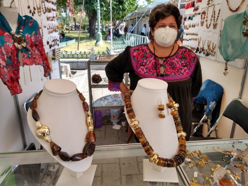 Artesanos buscan ingresos a través de Expo Ámbar