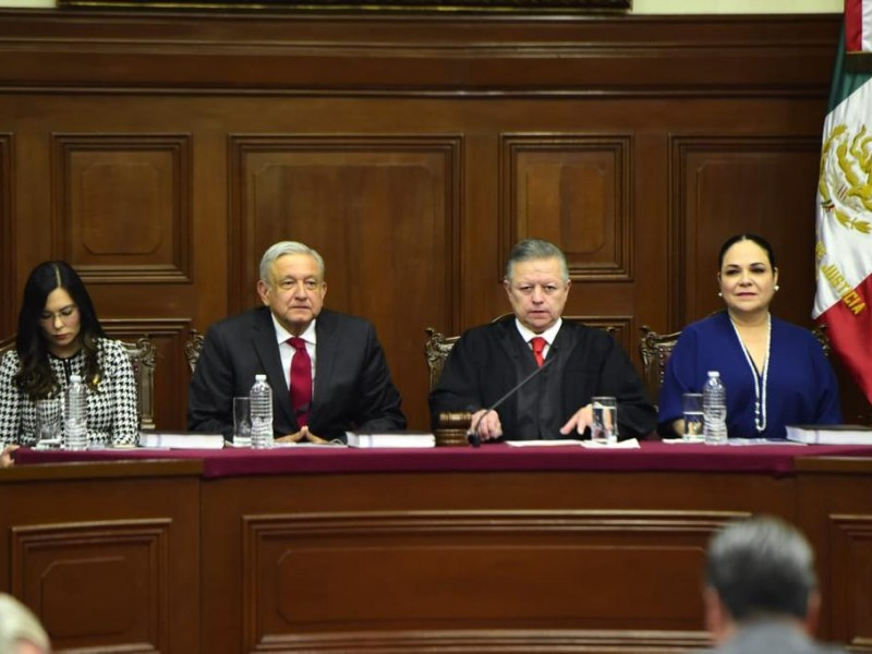 Arturo Zaldívar presenta informe de la SCJN