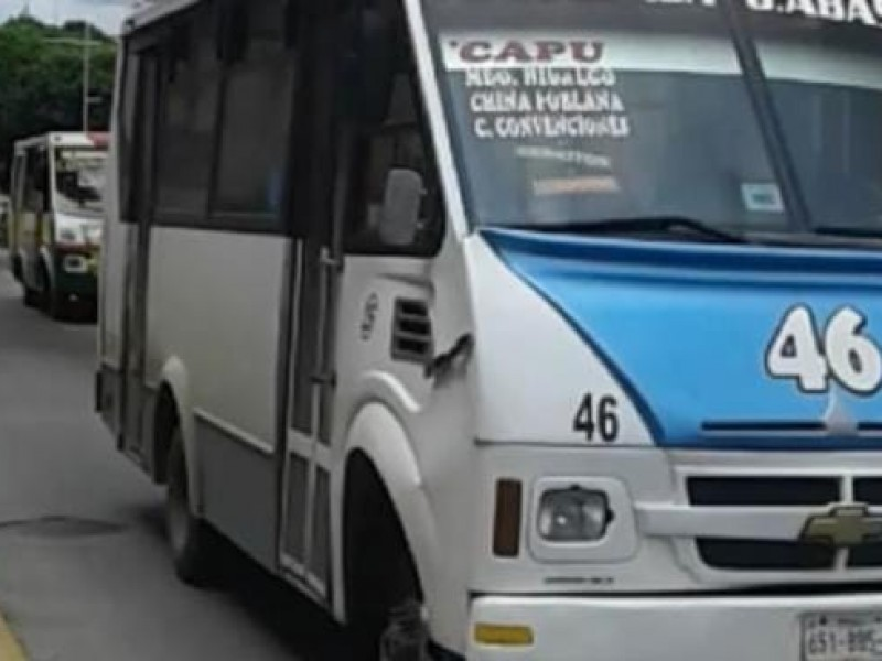 Asaltan a usuarios de la ruta 43 en la capital