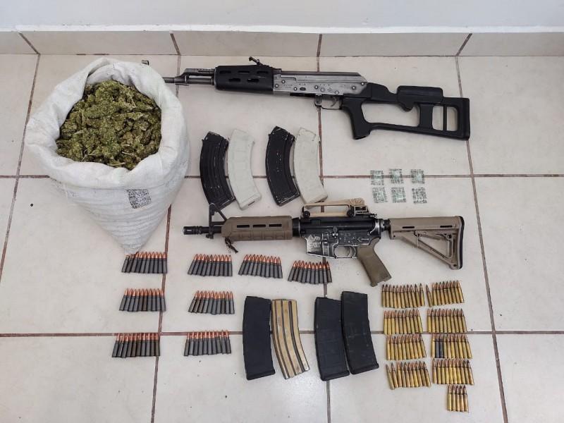 Asegura Guardia Nacional droga y armamento en Valparaíso