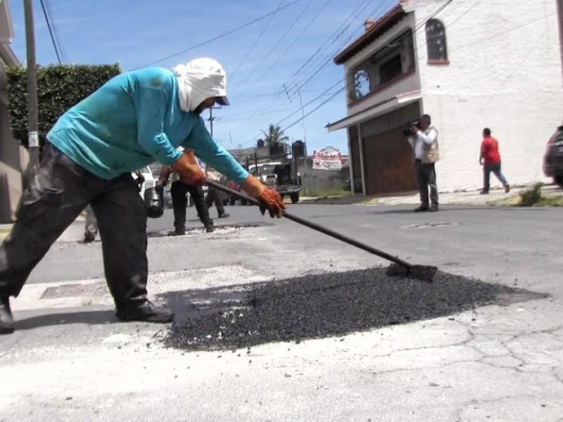 Asegura Obras Públicas mantener el programa permanente de bacheo