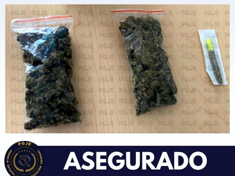 Asegura pgje dosis de droga en paquetería de La Paz