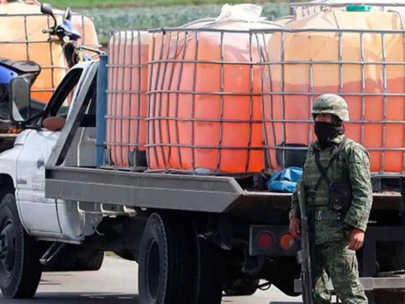 Aseguran 9 mil litros de huachicol en Hidalgo
