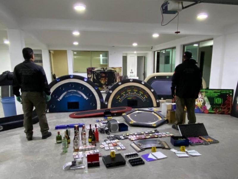Aseguran casino clandestino en Toluca