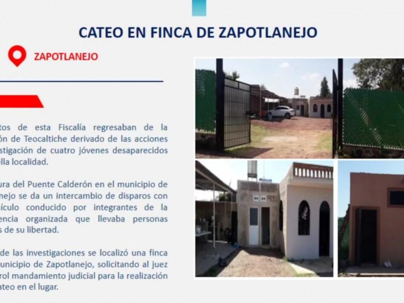 Aseguran finca, armas y vehículo utilizados por CJNG en Zapotlanejo