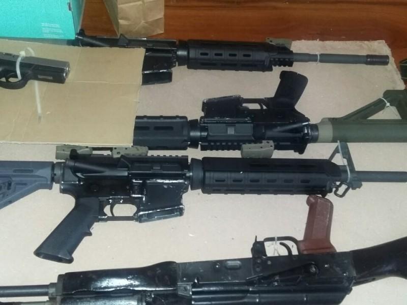 Aseguran más de tres mil cartuchos de armas