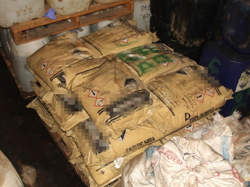 Aseguran narcolaboratorio; incautan 119 kilos de metanfetamina