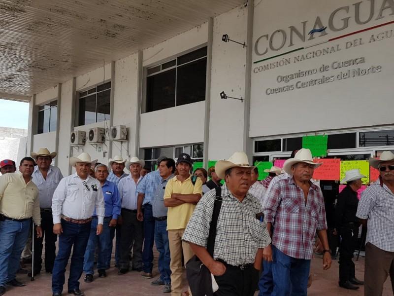 Protestas hasta que Conagua cumpla.