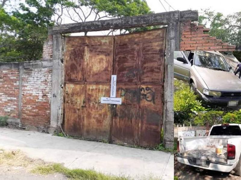 Aseguran vivienda y dos vehículos en cateo en el Tívoli