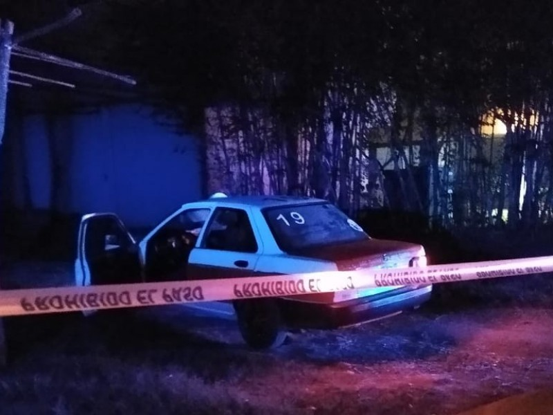 Asesinan a taxista con arma blanca en Tuxpan