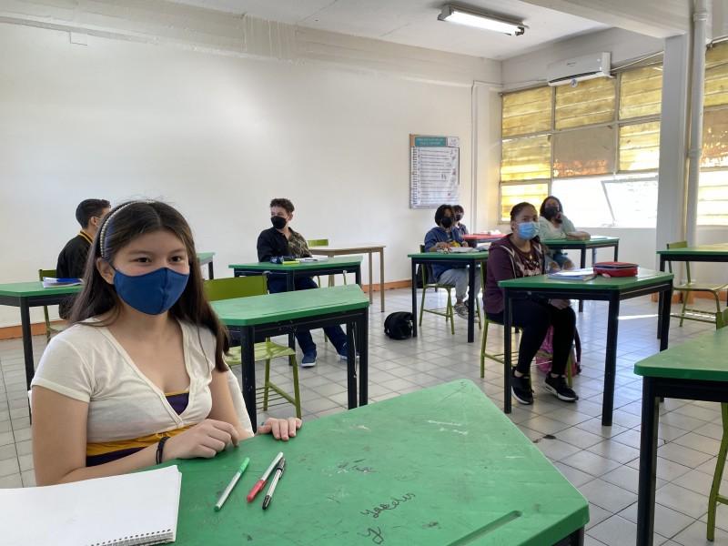 Así regresaron a clases presenciales en escuelas de Xalapa