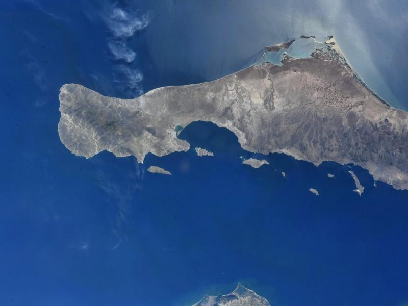 Astronauta retrata la península de Baja California