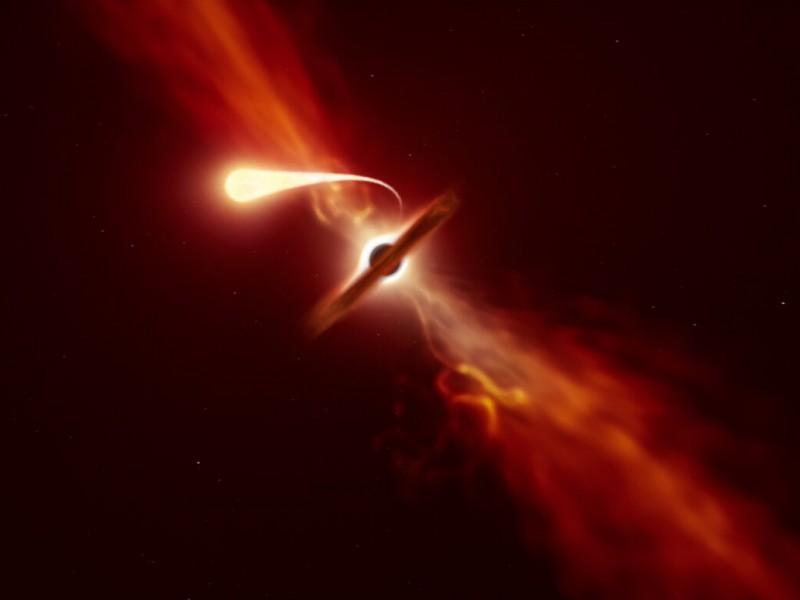 Astrónomos registran momento en que agujero negro devora una estrella