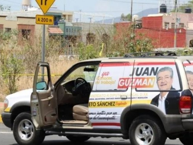Atacan a balazos a candidato en Guanajuato