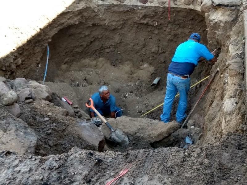 Atendió SIAPA socavón de Ruinas de Jauja