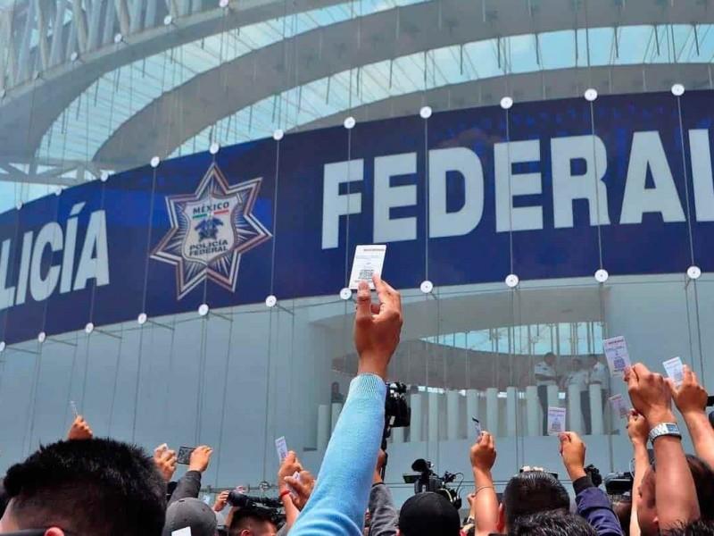 Atienden a Policías Federales por Guardia Nacional