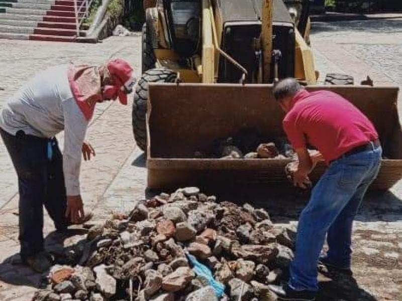 Atienden autoridades daños generados por lluvias en Chilchota